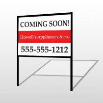Coming Soon 88 H-Frame Sign