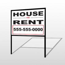 For Rent 138 H-Frame Sign
