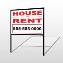 For Rent 139 H-Frame Sign