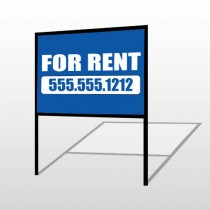 For Rent 87 H-Frame Sign