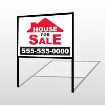 For Sale 145 H-Frame Sign