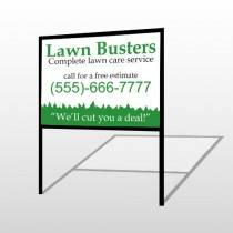Lawn Busters 91 H-Frame Sign
