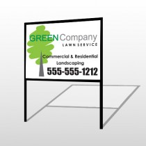 Lawn Service 98 H-Frame Sign