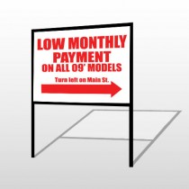 Low Monthly 116 H-Frame Sign