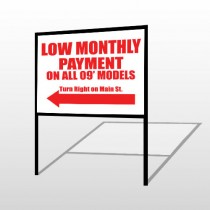 Low Monthly Left 117 H-Frame Sign