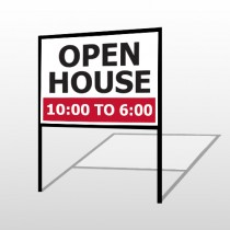 Open House 21 H-Frame Sign
