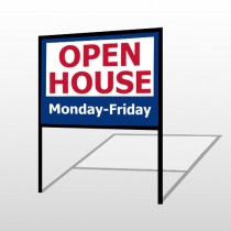 Open House 22 H-Frame Sign
