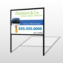 Painter 71 H-Frame Sign
