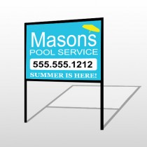 Pool Service 85 H-Frame Sign