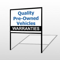 Pre-owned 148 H-Frame Sign