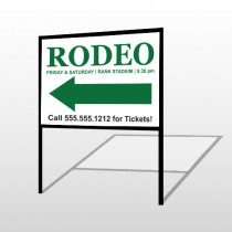 Rodeo 77 H-Frame Sign