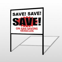 Save Save 150 H-Frame Sign