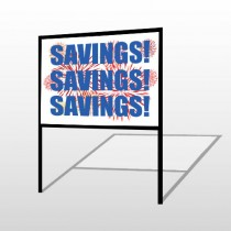 Savings 167 H-Frame Sign