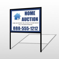 Blue House Auction 253 H-Frame Sign