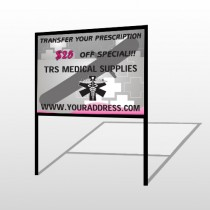Caduceus Med 503 H-Frame Sign