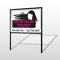 Hair 130 H Frame Sign