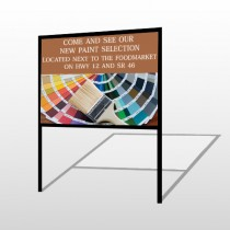 Paint Brushes 256 H-Frame Sign