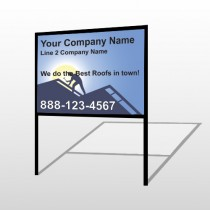 Roofing 258 H-Frame Sign