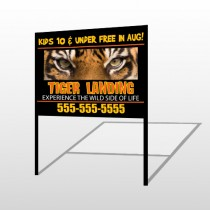Tiger Landing 303 H-Frame Sign