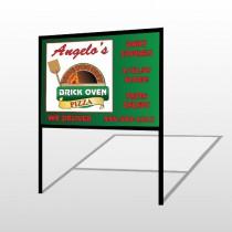 Pizza 129 H Frame Sign