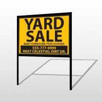 Yellow Black 551 H-Frame Sign