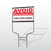 Foreclosure 119 Round Rod Sign