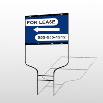 For Lease 41 Round Rod Sign