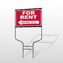 For Rent 43 Round Rod Sign