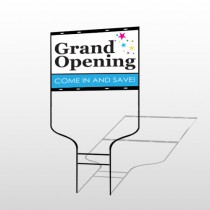 Grand Opening 89 Round Rod Sign