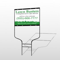 Lawn Busters 91 Round Rod Sign