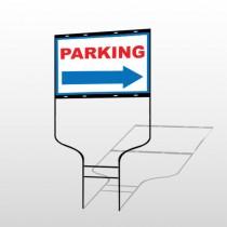 Parking 78 Round Rod Sign