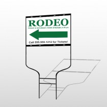 Rodeo 77 Round Rod Sign