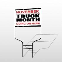 Truck Month 118 Round Rod Sign