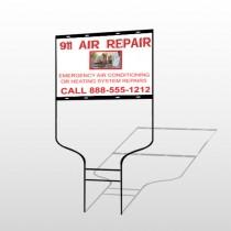 AC Repair 251 Round Rod Sign