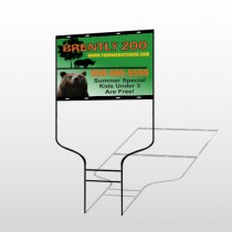Bear Zoo 302 Round Rod Sign