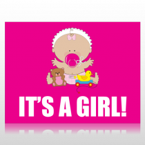 It's A Girl Sign Panel
