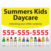 Kids Daycare Sign Panel
