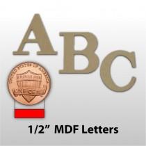 """1/2"""" Unfinished MDF Lettering"""