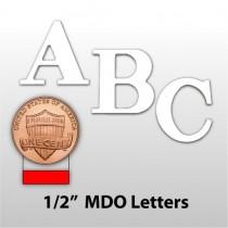 "1/2"" Primed MDO Plywood Lettering"
