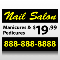Nail Salon Sign Panel