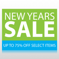 New Years Sale Sign Panel