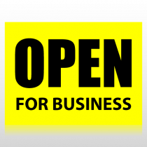 Open For Business Sign Panel