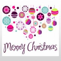 "Decorative Christmas Ornaments 24""H x 24""W"