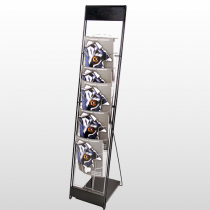 10UP Literature Rack Black & Silver