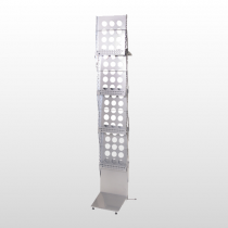 Illusion Literature Rack Single Width Silver