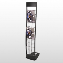 Innovate Literature Rack Black