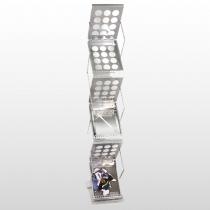 Zedup 1 Literature Rack Silver