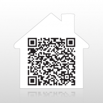 House Shaped QR Code Yard Sign