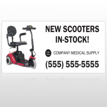 New Scooter 100 Site Sign