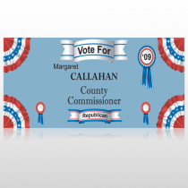 Vote County Commissioner 259 Custom Sign